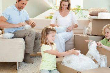 déménagement en famille